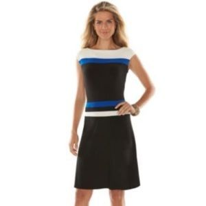 Chaps Stretchy ColorBlock Dress